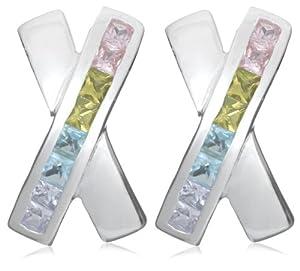 Tuscany Silver - Boucles d'oreilles fantaisie - Femme - Argent 3.4 Gr - Oxyde de zirconium