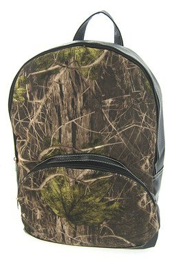 Camouflage Print Soft Canvas Large Backpack Black Trim Camo