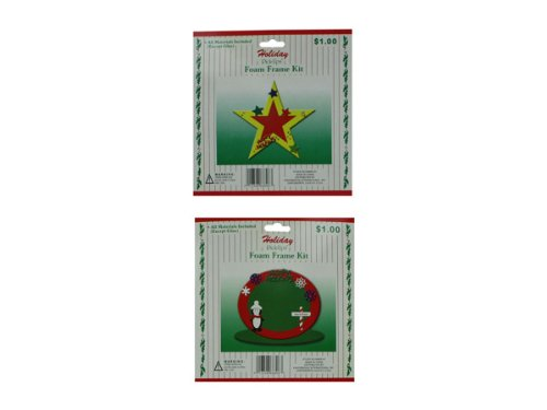 Holiday Foam Frame Kit - Case of 108