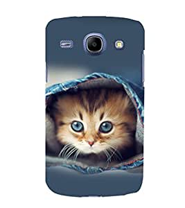 printtech Kitten Jeans Back Case Cover for Samsung Galaxy A3 / Samsung Galaxy A3 A300F