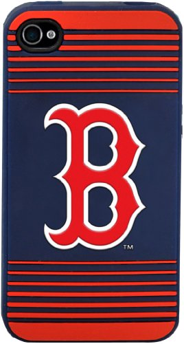 Forever Collectibles Boston Red Sox Team Logo Silicone Apple iPhone 4 & 4S Case