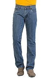 Aliep Grey 100% Cotton Regular Fit Jeans For Men | ALPJS27