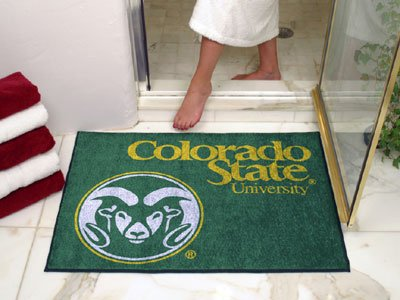 NCAA Colorado State Rams Chromo Jet Printed Rectangular Area Rug Floor Mat 45