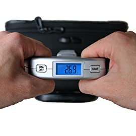 EatSmart Precision Voyager Digital Luggage Scale w/ 110 lb. Capacity & SmartGrip