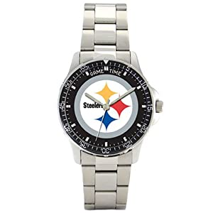 NFL Mens FC-PIT Pittsburgh Steelers Coach Series Watch by Game Time