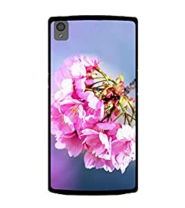 Bunch of Beautiful Pink Flowers 2D Hard Polycarbonate Designer Back Case Cover for OnePlus X :: One Plus X :: One+X