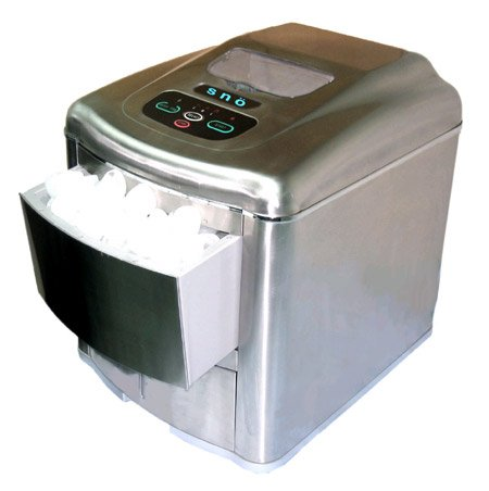 Whynter SNO T-2MA Portable Ice Maker with Water Connection - Stainless Steel ...