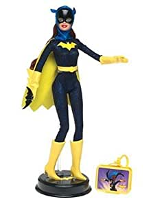 """Barbie as BatGirl: 11.5"""" Collectible Doll with Stand and Character Logo from DC Comics Super Friends"""