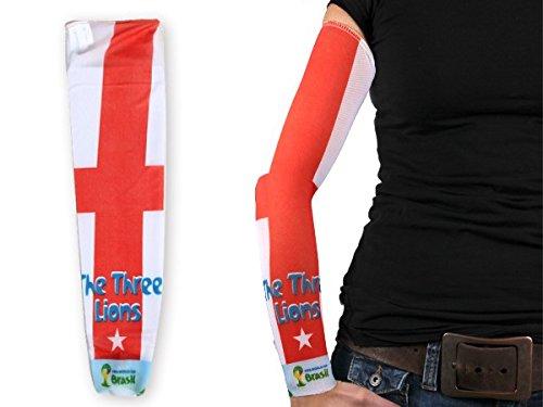 1 manica con tattuaggio finto in stile calcio per tifosi bandiera nazionale internazionale paesi mondiali europei spettacolo braccia coppa estate elastico per uomini e donne, :Inghilterra 102