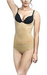 Adorna Body Bracer Panty (Transparent Straps) - Beige Ladies Shapewear