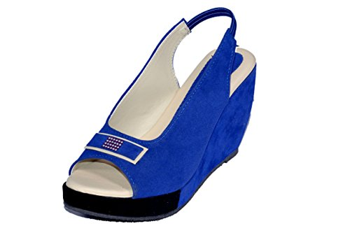 Altek Women's Velvet Wedges - B012CBGL4I