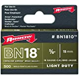 Arrow BN1810 Genuine 5/8-Inch Brown Brad Nails, 500-pack