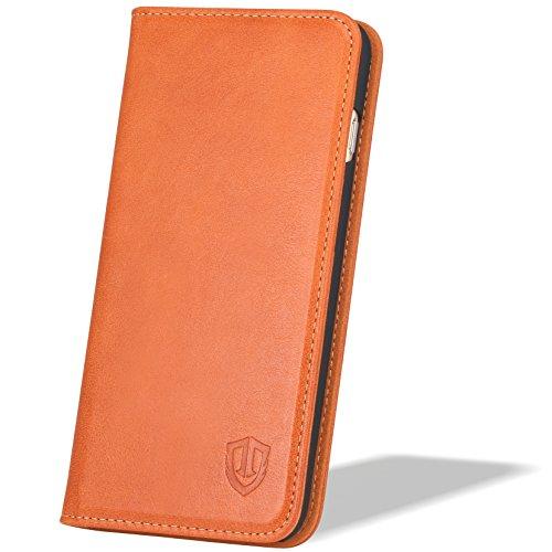 SHIELDON iPhone6s / iPhone6 用 ケース 手帳型 本革 財布型 カバー カードポケット スタンド機能 マグネット式 4.7インチ対応 レトロブラウン