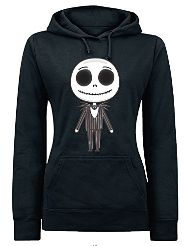 The Nightmare Before Christmas Jack Emoji Felpa donna nero L