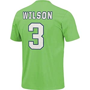 NFL Seattle Seahawks Russell Wilson Short Sleeve Basic Crew Neck T-Shirt, Bright... by VF LSG