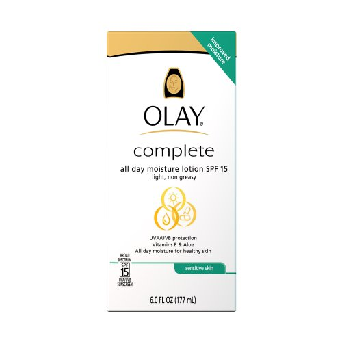 Olay Complete All Day Moisturizer For Sensitive Skin Spf 15 6.0 Oz