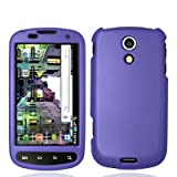 Purple Rubberized Hard Case Snap-On Cover for Samsung Epic 4G (Galaxy S) Sp ....