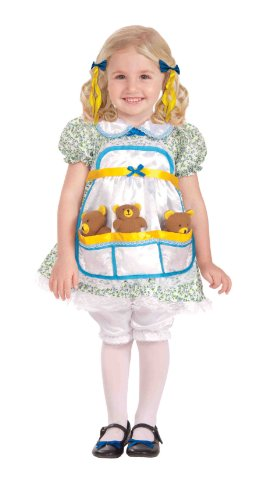 [Forum Novelties Goldilocks Complete Costume, Toddler Size] (Goldilocks And Bear Costumes)