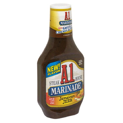 A.1. Steak House Marinade, Jamaican Jerk, 16-Ounce Bottles (Pack of 6)