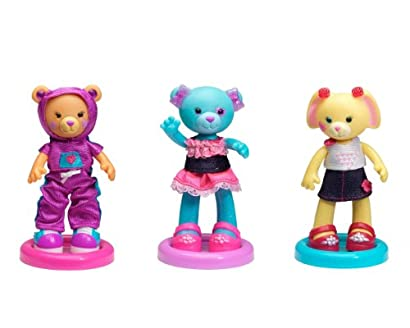 Build-A-Bear Workshop - Furbulous Fashion Friends 3-Pack Bundle (Sporty Bear/Ruffles Bear/Petal Bunny)