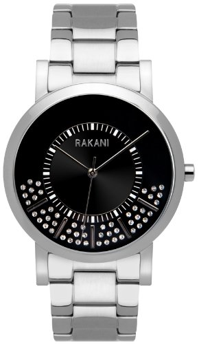 Rakani Stuck In Traffic 40mm Swarovski Crystals Watch with Stainless Steel Band