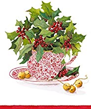 Entertaining with Caspari Christmas Tea Guest Towels Pack of 15