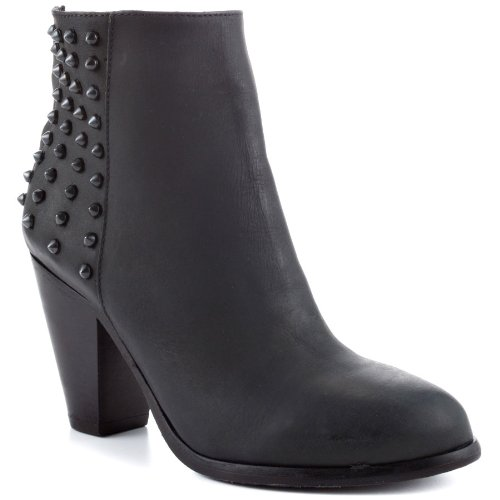 Steve Madden Women's Acedd Ankle Boot,Black Leather,7 M US