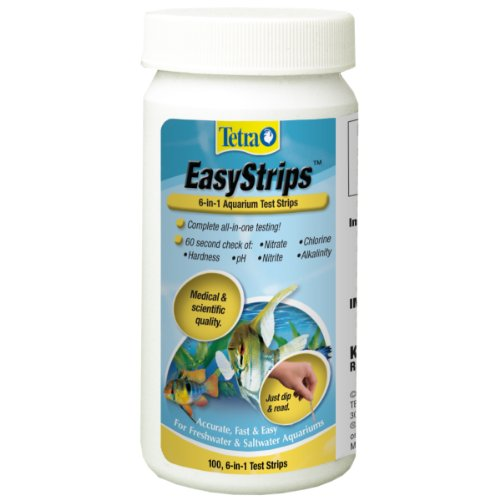 Tetra 19543 EasyStrips 6-in-1 Test Strips, 100-Count (Water Test Aquarium compare prices)