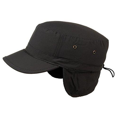 techno-army-earflap-cap-mit-teflon-one-size-schwarz