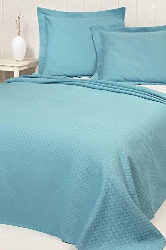 Lasa Pure 253 - Colcha de piqué para cama individual, 180 x 260 cm, color blanco