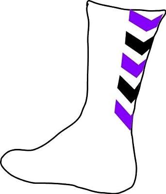 HUMMEL - Chaussette authentic - blanc chevrons noir violet - Violet - 33/35