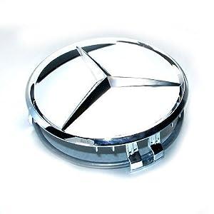 Mercedes benz four chrome wheel center cap set for Mercedes benz wheel caps