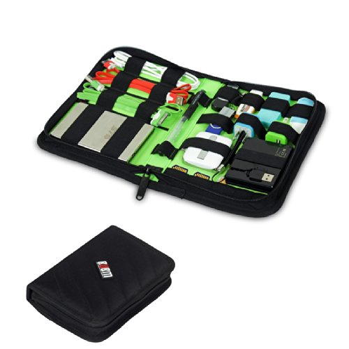 Damai Portable Electronics Accessories Organizer / Travel Organiser / Hard Drive Case/ Baby Healthcare & Grooming Kit-6 Color (Black) front-731498