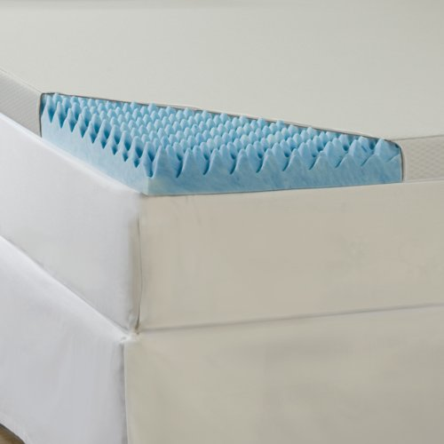 Sleep Comfort 3-Inch Gel Memory Foam High Loft Topper With Waterproof Cover, Queen