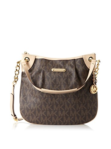 Michael Michael Kors Women'S Large Jet Set Convertible Shoulder Bag, Brown With Gold Hardware, One Size
