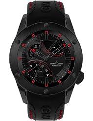 Jacques Lemans Men's Liverpool GMT Black Leather 1634D
