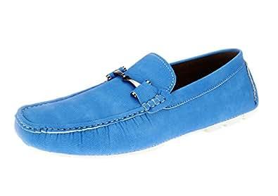 Salvatore Exte Men's Shoe Monaco Slip-On Loafer (7.5 D(M) US, Blue)