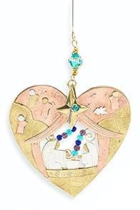 Pilgrim Imports Heart Nativity Fair Trade Christmas Tree Ornament