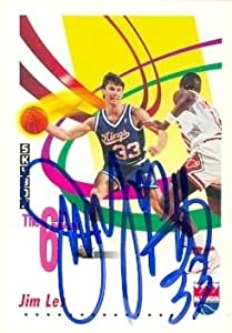 Jim Les Autographed Hand Signed Basketball card (Sacramento Kings) 1992 Skybox #454 by Hall of Fame Memorabilia