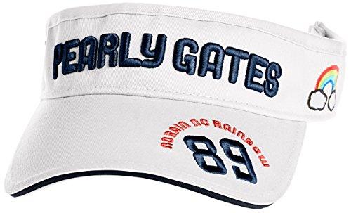 (パーリーゲイツ)PEARLY GATES 定番系 ウェザー バイザー 053-6187501 030 ホワイト FR
