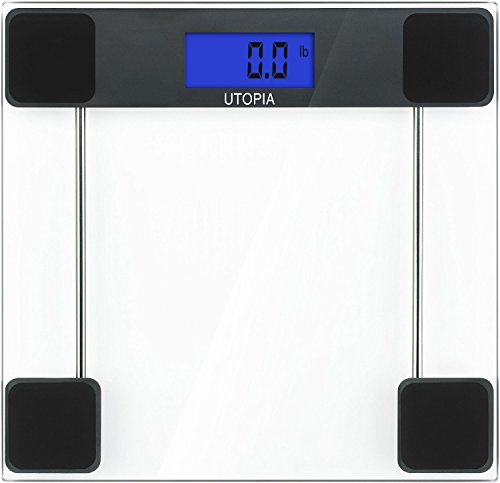 Digital Glass Bathroom Scale 6mm Thick Tempered Glass - Transparent