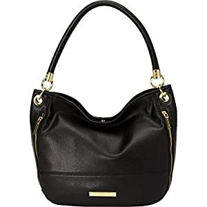 Anne Klein Military Luxe Hobo,Black,One Size