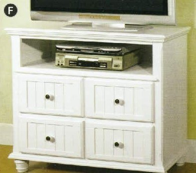 Willow Creek Cottage Style White Media Chest