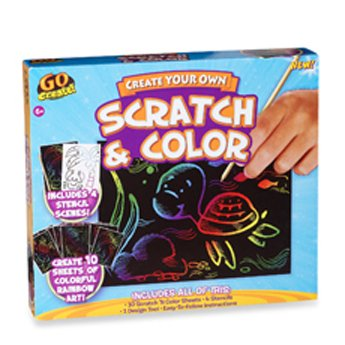 Go Create! Scratch and Color Kit by Horizon Group