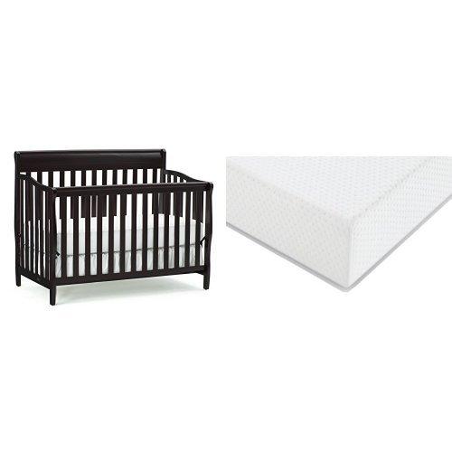 Graco Stanton Convertible Crib + Graco Premium Foam Crib and Toddler Bed Mattress, Espresso (Graco Bed Frame compare prices)