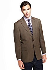 Sartorial Pure New Wool 2 Button Herringbone Checked Jacket