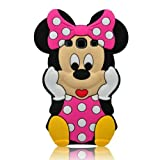 I-need 3d Cartoon Mouse Soft Silicone Case Cover with 3d Anti-plus Minnie Pen for Samsung Galaxy S Iii/s3 I9300 - Hot Pink