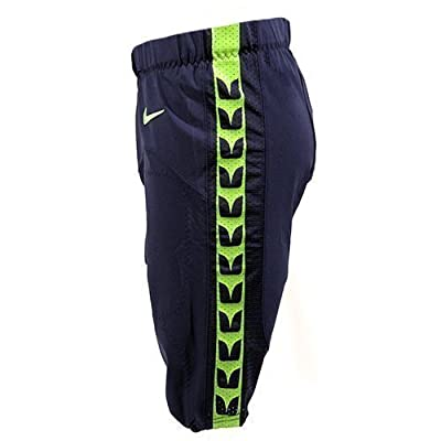 Seattle Seahawks Team-Issued Home Blue Football Pants - Size Small (Waist sizes 26-32)