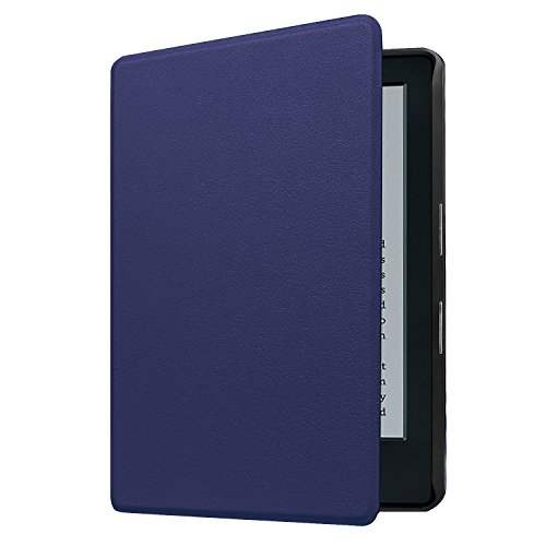 IVSO-Ultra-Schlank-Stnder-Slim-Leder-zubehr-Schutzhlle-mit-Automatischem-Schlaf-Funktion-fr-Neue-Kindle-eReader-152-cm-6-Zoll-8-Generation-2016-Modell-perfekt-geeignetSchwarz