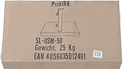 ProKIRA® Sonnenschirmständer / 25 kg / Schirme bis Ø200cm / Granit-Balkonschirmständer / eckig von PROKIRA bei Gartenmöbel von Du und Dein Garten